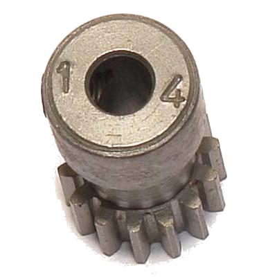 CORALLY Pinion 48 DP – Long – Hardened Steel – 14 Teeth
