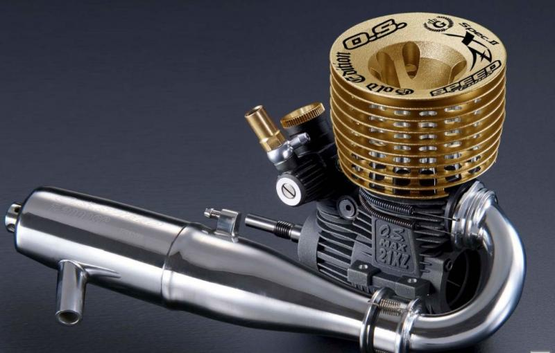 O.S. Speed 21 XZ-B Spec II Gold Edition Nitro Engine, 1217B