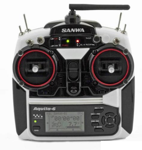 SANWA AQUILA 6-Channel 2.4GHz FHSS-1 Aircraft Radio System