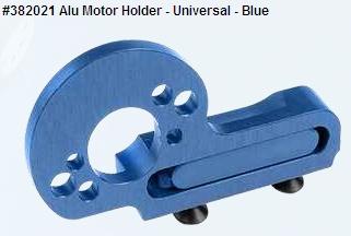 Alu Motor Holder - Universal - Blue