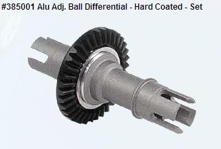 Alu Adj. Ball Differential - Hard Coated - Set